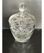"Vintage Anchor Hocking EAPG Clear Sugar Bowl & Lid 5 1/2"" - $10.00"