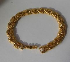 """Vintage Monet Gold-tone V-Link Bracelet 7.5"""" Long - $18.80"""