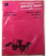 VTG John Deere 81 Unit Planter Farm Equipment Operators Manual Dealer Co... - $17.90