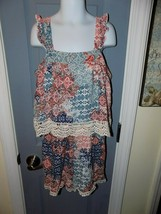 Justice Crochet Ruffle Shorts Romper Tribal Outfit Size 14 Girl's EUC - $27.00