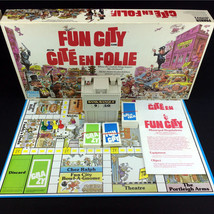 Fun City Board Game Vintage 1987 Parker Brothers Bilingual For Kids & Ad... - $23.00
