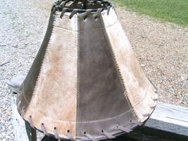 Cowhide Leather Lamp Shade Rustic Western 1334 bz - $159.98