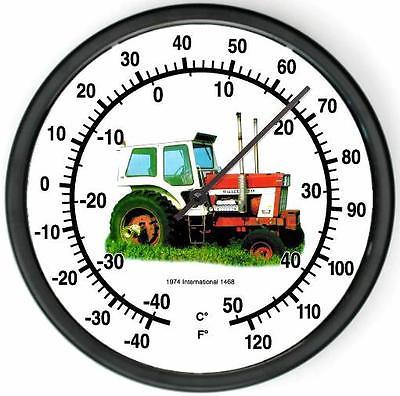 """New 1974 International Harvester Model 1468 10"""" Wall Tractor Thermometer New"""