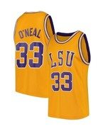 Shaquille O'Neal #33 College Custom Basketball Jersey Sewn Gold Any Size - $29.99+