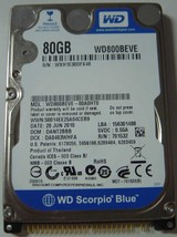 NEW 80GB 2.5 inch IDE 44PIN 9.5MM Hard Drive WD WD800BEVE Free USA Shipping - $48.95