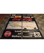 2-PC. LARGE STREET REVERSIBLE COCA-COLA BANNER - $59.40