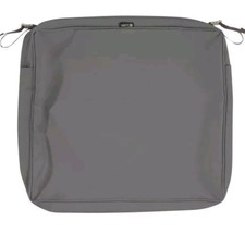 """Montlake Rect. 3"""" Thick Charcoal Grey Seat Cushion Cover - 23"""" x 20 - $21.01"""