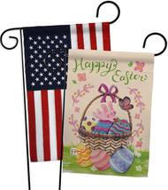 Happy Easter Colourful Basket Eggs - Impressions Decorative USA - Applique Garde - $30.97