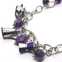 925 Silber Halskette, Amethyst, Mokka, Kaffeekanne, Kanne, Anhänger Emailliert image 5