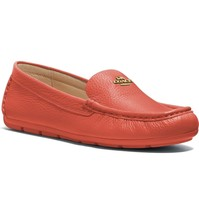 Coach Women Slip On Moccasin Driving Loafers Marley Leather Driver Bright Salmon - $88.76