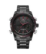 Naviforce Men's Steel Dual Display Quartz Wrist Watch NF9024 (Black & Red) - $38.00