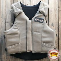 Hilason Leather Pro Rodeo Horse Riding Protective Vest Grey U-05ND - $148.95