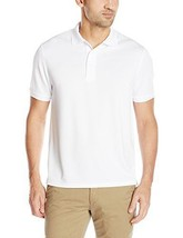 G.H. Bass & Co. Men's Short Sleeve Explorer Fish Tale Solid Polo White S... - $28.71