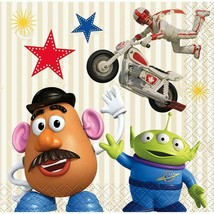 Toy Story 4 16 Ct Beverage Napkins Paper Mr Potato Head Aliens - $3.16