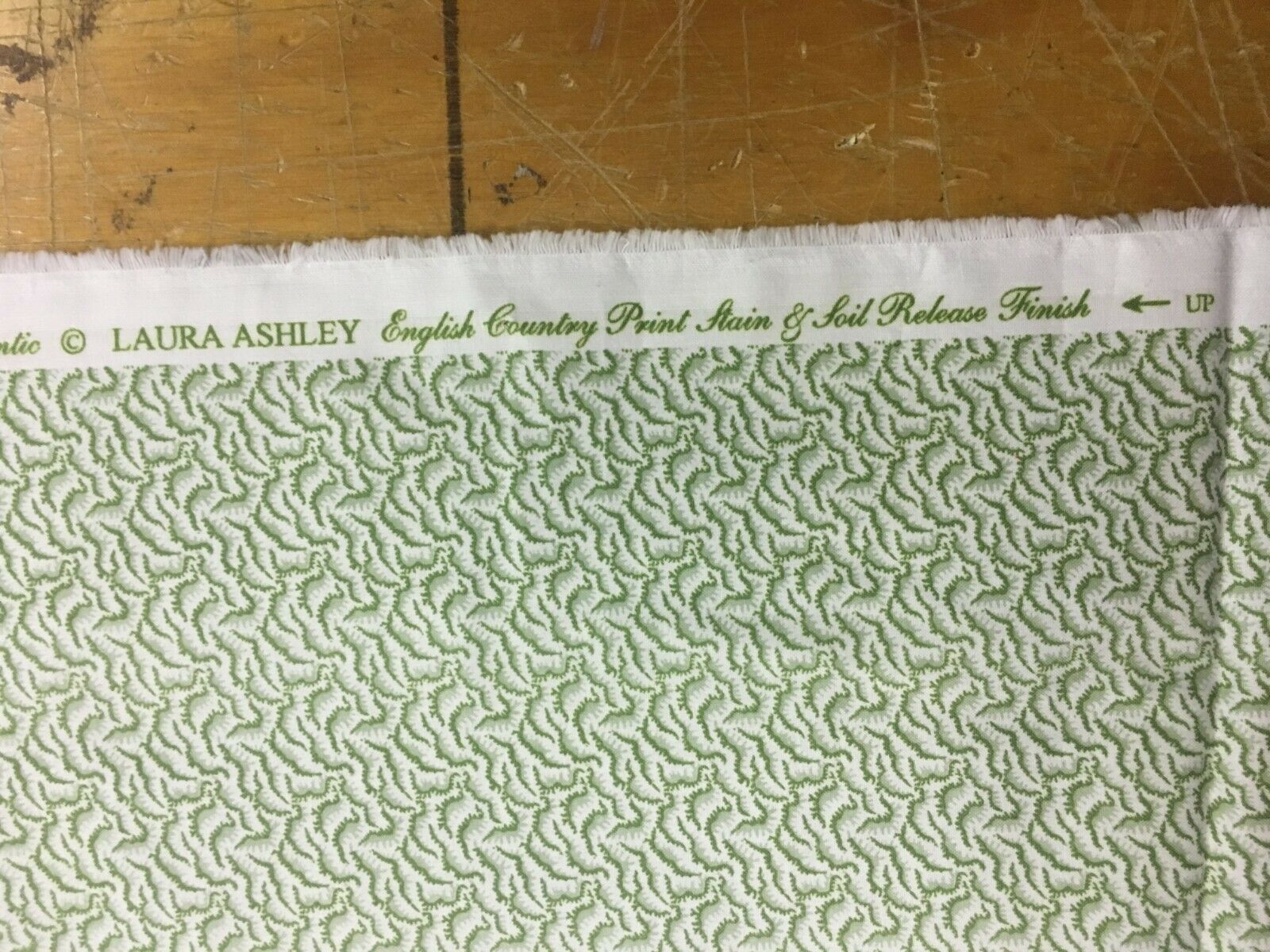 Laura Ashley English Country Print Green Small Pattern Upholstery Fabric 1 yd
