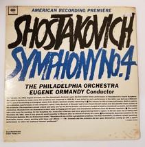 Shostakovich Symphony 4 Ormandy Conductor ML 5859 Vinyl Record Album - $17.77
