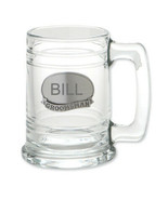 Monogrammed Personalize Engraveable Groomsman Glass Tankard Beer Mug for... - $9.49