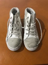 Girls Kid's Beautiful Children's Place White High Top Sneakers Shoes Size 2 - $5.93