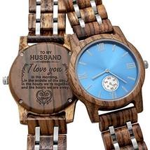 Personalized Custom Wooden Watch Custom Wood Engraved Groomsmen Gift Boy... - $63.98