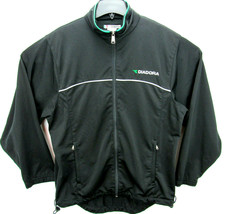 Diadora Men's Size Medium Soccer Jacket Warm Up Full Zip Black Track Jacket - $31.95