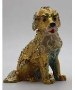 QIFU Golden Retriever with Crystals Pewter Alloy Trinket Box- Decorative... - $14.99
