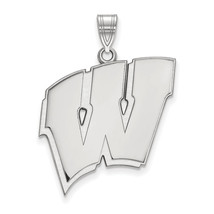 Sterling Silver LogoArt University of Wisconsin XL Pendant - $116.00