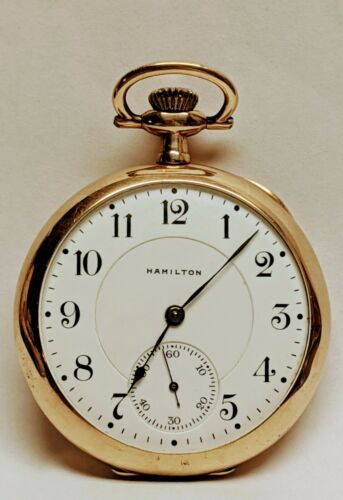 Primary image for 1915 Hamilton Pocket watch Model 2 Size 16s 17 Jewel Hinged Grade 956 Ticks