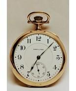 1915 Hamilton Pocket watch Model 2 Size 16s 17 Jewel Hinged Grade 956 Ticks - $316.80