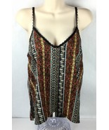 Honey Punch M Tank Top Lace Spaghetti Strap BOHO Floral Plunge Back NWT ... - $19.87