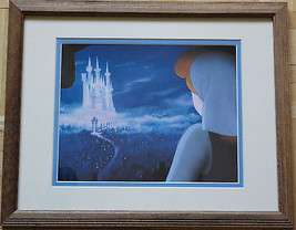 NEW Wood Oak Framed Disney CINDERELLA Lithograph Genuine Authentic - $35.00