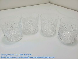 """Waterford Alana Old Fashioned Crystal Glass 3 3/8"""" Set of 4 Total M167 - $197.99"""