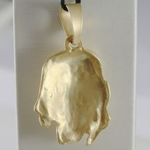 18K YELLOW GOLD JESUS FACE PENDANT CHARM 45 MM, 1.8 IN, FINELY WORKED ITALY MADE image 4