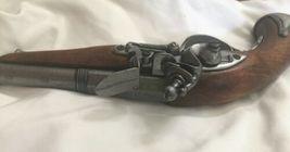 Vintage Imitation Wood Metal Gun Orange Plug Display Antique Replica Pistol image 5