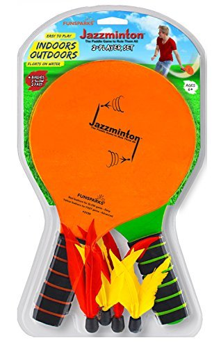 Jazzminton Standard - The Paddle Game to Rule Them All - 2 Paddle, 4 Birdie Padd