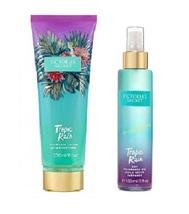 Victoria's Secret Tropic Rain Dry Fragrance Oil Spray & Lotion 2 Piece Set - $52.50