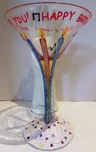 LOLITA Happy Birthday-tini Martini Glass with Recipe - $27.72