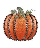 """Fall Harvest Metal Leaf Swirled Pumpkin Decor 19""""Tall Pumpkin Thanksgivi... - $27.57"""