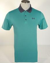 Under Armour Heatgear Green & Gray Stripe Short Sleeve Polo Shirt Men's NWT - $63.74
