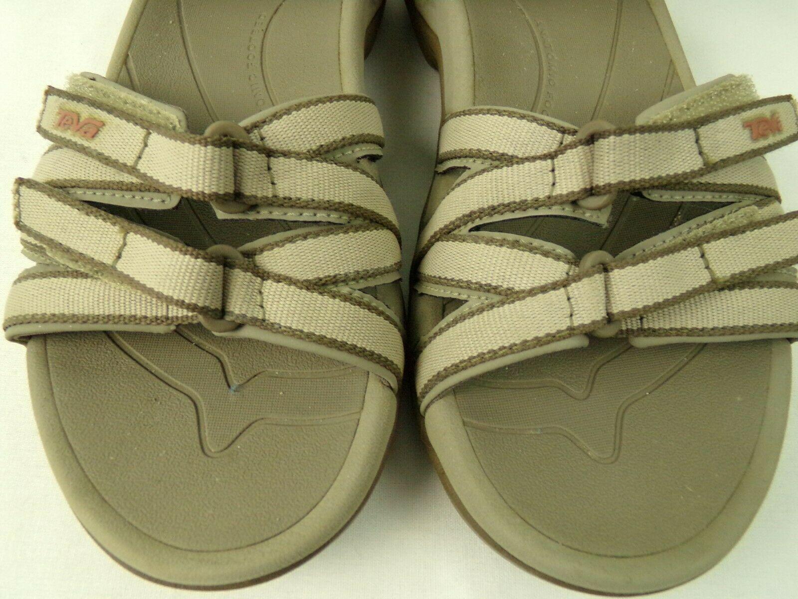 Women's Teva Sandals Size 7 Tan Brown 4266 Open Toe