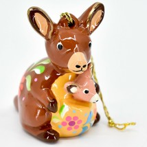 Handcrafted Painted Ceramic Kangaroo & Joey Confetti Ornament Made in Peru image 1