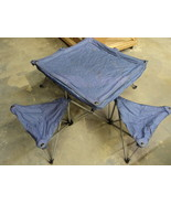 Northpole Fold Out Camping Table 4 Chairs 50in L x 50in W x 24in H Purple - $71.84