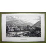 GERMANY Saxony View of Ilsenburg - 1820s Copper Engraving by Cpt. Batty - $13.77