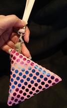 Pyramid Bag/Wristlet/Gift Bag - Pink Hologram/Holographic shiny polka dots image 2