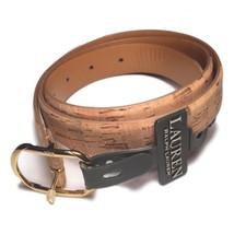 NWT Ralph Lauren Women's Cork Belt Natural Gold Accents Medium $38 - $19.99