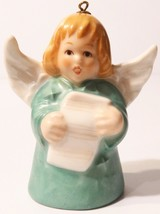 1981 Goebel Angel Bell Ornament Green - $4.94