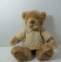 Burberry Fragrances plush Teddy Bear Russ Berrie Tan Coat 2008 - $12.86