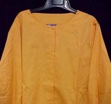 Scrub Jacket 4XL Orange Cream Round Neck Scrubs 11335 Discontinued Crest... - $19.37
