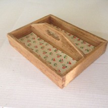 Vintage Primitive Handmade Wood Wooden Tool Box / Tray Carrier Tote - $18.66