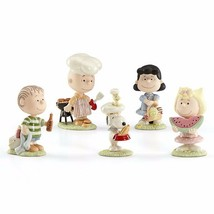 Lenox Peanuts Summer Barbecue Figurines Party 5 PC Charlie Brown Snoopy ... - $128.40