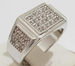 14K WHITE GOLD FN MENS ROUND 2.00 CT DIAMOND WEDDING ENGAGEMENT PINKY BA... - $100.75